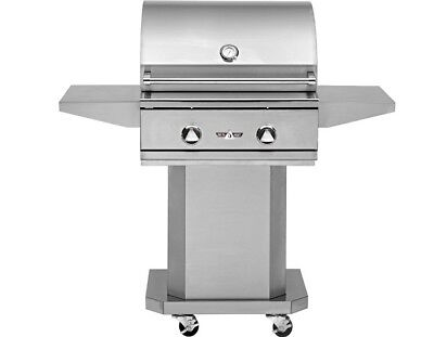 Delta Heat 26 Inch Natural Gas Grill On Cart With Interior Lights