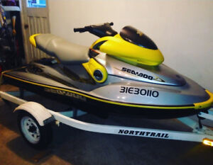2001 XP SEADOO BOMARDIER LIMITED + TRAILER FOR SALE