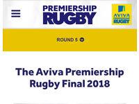 Aviva Premiership Rugby Final Ticket x1