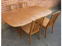 Vintage G Plan Dining Room Table With 4 Chairs 1985 1990