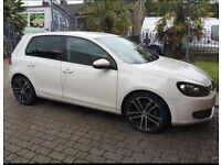 Volkswagen Golf 2.0 gt tdi DSG auto, 2012 (62) fsh, WHITE, black leather Nogaro alloys, BARGAIN 😀😀