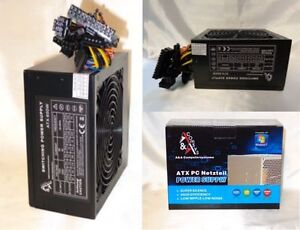650Watt 650W Gamer Computer ATX Netzteil 20/24 P4 3SATA 3IDE P6 P8 PCIe s. leise