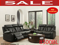 8500BLK,3 sofas, loveseats, chairs, sectional, corner sets,