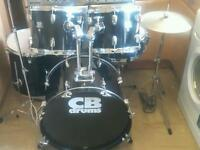 Complete drum kit.