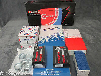 """Ford 312 Engine Kit Pistons+MOLY Rings+Bearings+Gaskets +.030"""" 1956 57 58 59 60"""