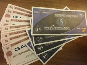 Theatre Gift Certificates valued at 80$