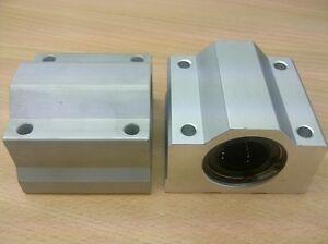 x2pcs-New-SC20-Housing-ID20mm-Samic-Linear-Bearing-CNC-SMA20