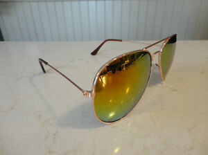 Aviator Sunglasses - Copper Frame w/ Orange Lens - BRAND NEW