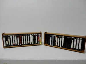 Solid Wood VHS Tape Cases W/ VHS Tapes with over 74 Great Movies Kitchener / Waterloo Kitchener Area image 1