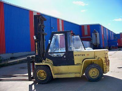 Hyster Pneumatic Tire Diesel Dual Drive Rough Terrain Forklift H155xl2 180 Lift