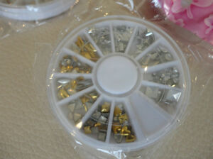 15 Packs Of Assorted Silver /Gold Alloy Studs -Nail or Phone Art Kitchener / Waterloo Kitchener Area image 5