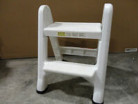 Rubbermaid Fold--able White Sturdy Plastic Two Step Stool