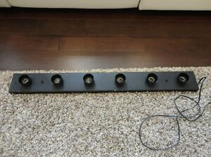 "36"" Wide 6 Bulb Flat Black Light Strip With 120v cord attached"