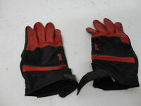 Vintage Early 80's Tour Master Leather Motorcycle Gloves Red/Blk