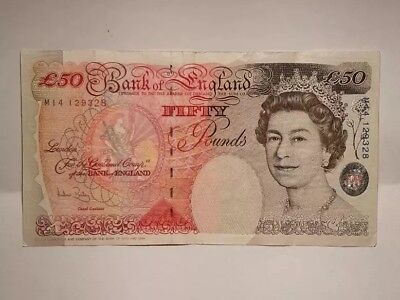 Bank Of England Old UK Fifty Pound note £50 1994 M14 129328 for sale  Shipping to Ireland