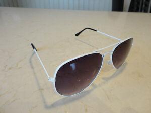 Aviator Sunglasses - White Frame w/ Black Lens - BRAND NEW Kitchener / Waterloo Kitchener Area image 1