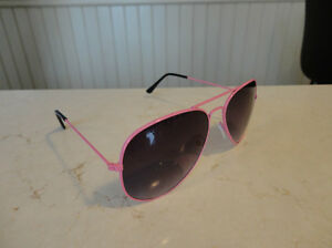 Aviator Sunglasses - Pink Frame w/ Black Lens - BRAND NEW