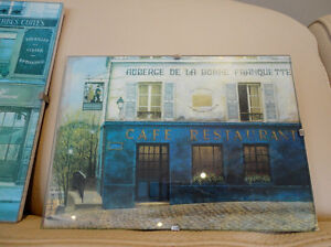 """Set of Three4x6"""" Glass Enclosed Pictures for Bath or Powder Room Kitchener / Waterloo Kitchener Area image 5"""