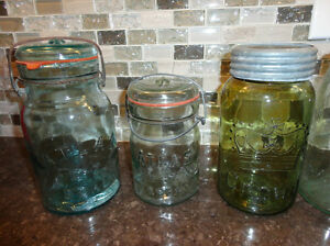 Lot of 4 Sealer / Canner/ Fruit Jars - Lovely Colours some rare Kitchener / Waterloo Kitchener Area image 2
