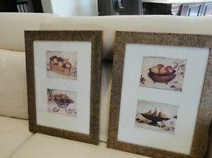 Pair Of Lovely Rectangle Framed prints of Bowls Of Fruits $31/pr