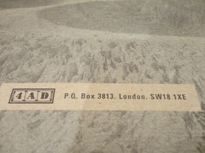 Rare & Collectible -4AD Music Catalog from 1980-1998 w/ Decal Kitchener / Waterloo Kitchener Area image 8