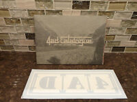 Rare & Collectible -4AD Music Catalog from 1980-1998 w/ Decal