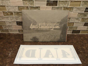 Rare & Collectible -4AD Music Catalog from 1980-1998 w/ Decal Kitchener / Waterloo Kitchener Area image 1