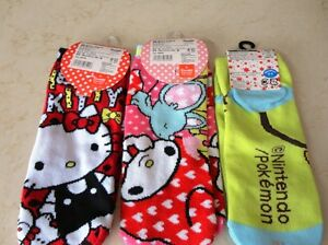 Hello Kitty, My Melody & Pokemon Socks brought here from Japan Kitchener / Waterloo Kitchener Area image 4