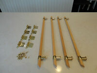 "23"" Long Solid Oak & Brass Cabinet - Cupboard Handles & 8 Hinges"