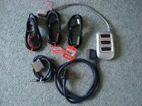 Television Scart Leads and Splitter
