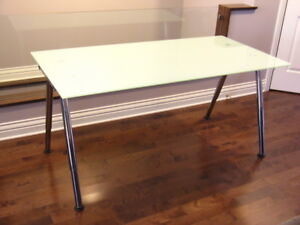 IKEA GALANT frosted glass table/desk (excellent & clean cond.)