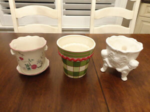 Set of Three Decorative Ceramic Containers $9.00/for all 3