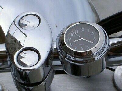 Montre horloge Guidon Clignotant métal Moto Vélo Scooter Harley Davidson Bobber