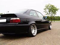 BMW deep dish banded steel wheels, 5x120, e46 e36 etc, staggered, slammed, 17