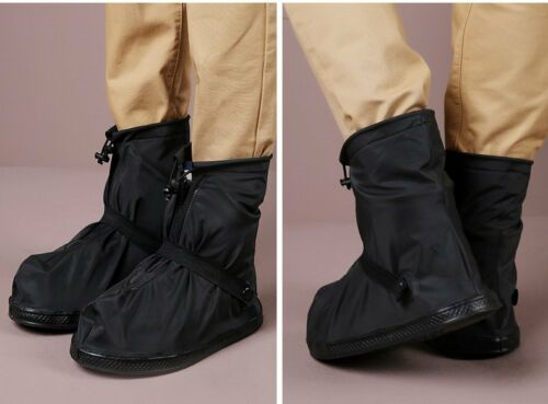 USA Reusable Outdoor Waterproof  Rain Shoe Covers Zipper Boots Anti-Slip Cover