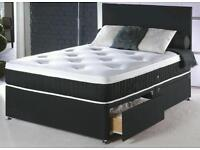 NEW FURNITURE-Double Divan Base with Luxury Memory Foam Ortho Mattress-Sofa,Bed , Wardrobe available