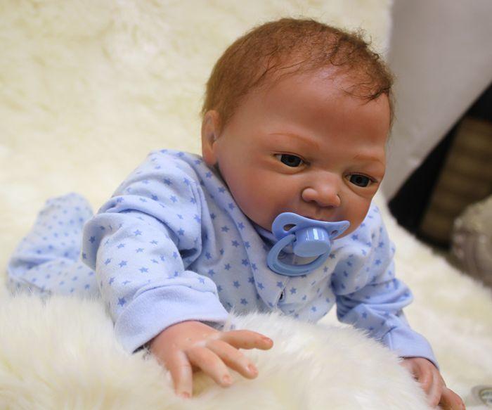 "46cm/18"" Handmade Reborn Baby Doll Girl Boy Newborn Lifelike Soft Vinyl silicone"