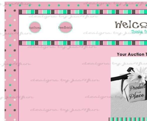 Stripes N Dots_2 eBay Auction Template Listing Template Store Template
