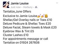 JUNE OFFERS @ TANTALIZE, HORBURY
