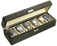 NEW DELUXE WATCH BOX HOLDS SIX WATCHES IN STOCK @MAPLE JEWELLERS