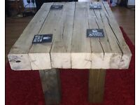 New RECLAIMED Solid wood coffee table. Rustic. Industrial