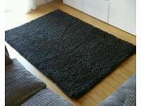 Charcoal grey rug 170cm x 120cm