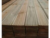 Premium Timber Decking treated 125x32mm 4.2metre lengths