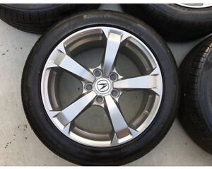 4 oem acura rims and nokian winter tires tpms