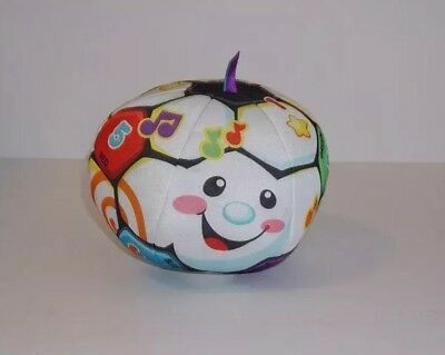 Fisher-Price Laugh & Learn Singin' Soccer Ball Baby Plush Toy Talking