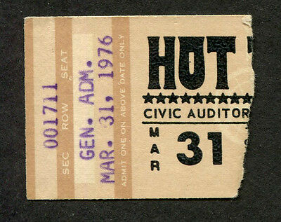 1976 Hot Tuna concert ticket stub Hoppkorv Jack Casady Jorma Kaukonen