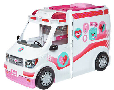 BARBIE CARE CLINIC VEHICLE Ambulance--Hospital PLAY SET + 20 Pieces of Equipment
