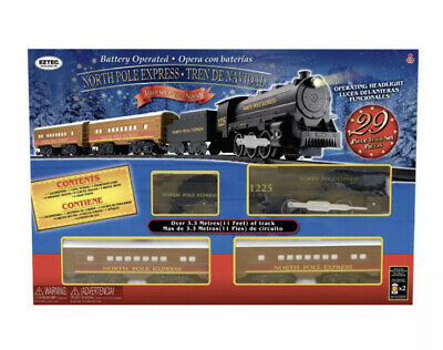 EzTec North Pole Express Christmas Train Set Battery Operated Classic Toy A