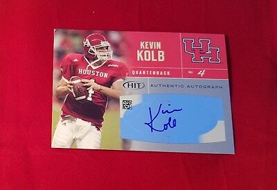 Kevin Kolb #36 Houston Sage Hit 2007 Autographed Rookie Card Silver Eagles