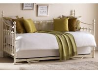 Versaille ivory metal daybed + underbed.New